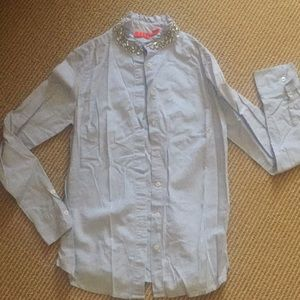 Jewel collard chambray button down